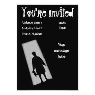 Halloween Party Twilight Zone Invitation
