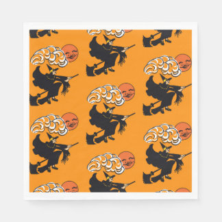 Halloween Party Vintage Style Napkin Witch Paper Napkin