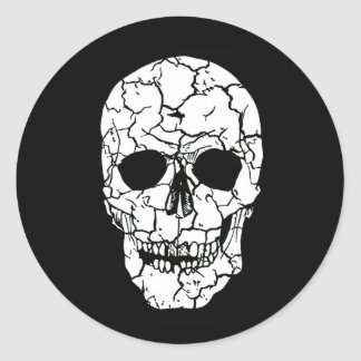 Halloween Party White Black Skeleton Skull Sticker