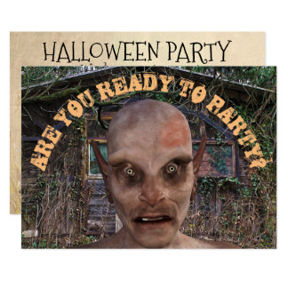 Halloween Party Zombie Invitation