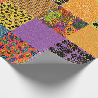 Halloween Patchwork Wrapping Paper