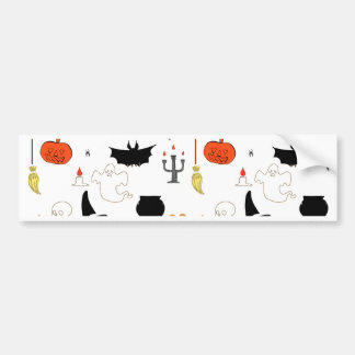 Halloween Pattern Bumper Sticker