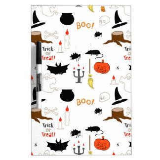 Halloween Pattern Dry-Erase Whiteboard