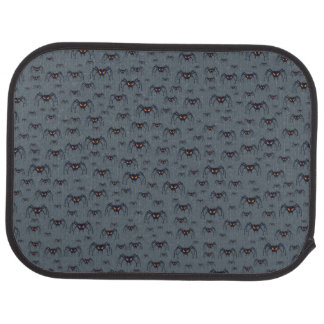 Halloween pattern with spiders car mat