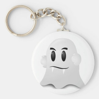 Halloween phantom basic round button keychain