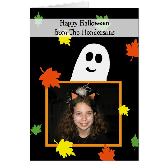 Halloween Photo Greeting Card --  Ghost Frame