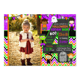 Halloween Picture Birthday Party Invitation