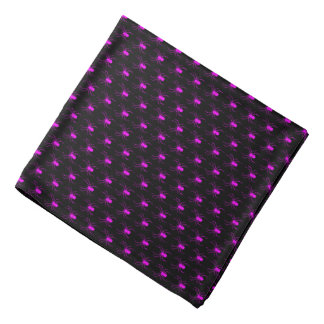 Halloween Pink Spiders on Black Bandana