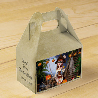 Halloween Pirate Girl Custom Gable Favor Box