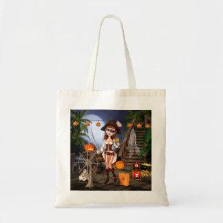 Halloween Pirate Girl Tote Bag