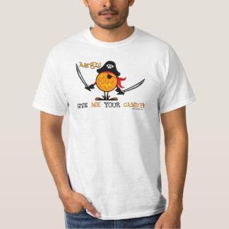 Halloween Pirate Pumpkin Tee Shirts