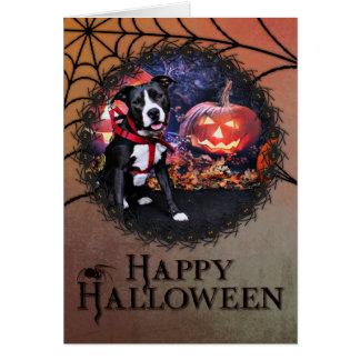 Halloween - Pitbull - Loki Stationery Note Card