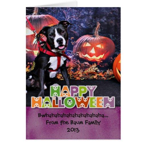 Halloween - Pitbull - Loki Card
