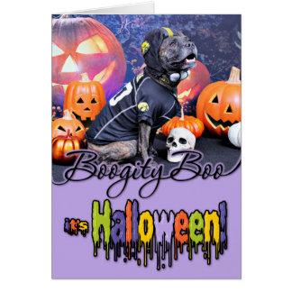 Halloween - Pitbull - Marley Stationery Note Card