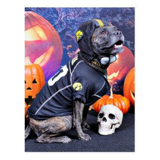 Halloween - Pitbull - Marley Postcard