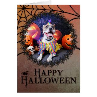Halloween - Pitbull - Tyson Stationery Note Card