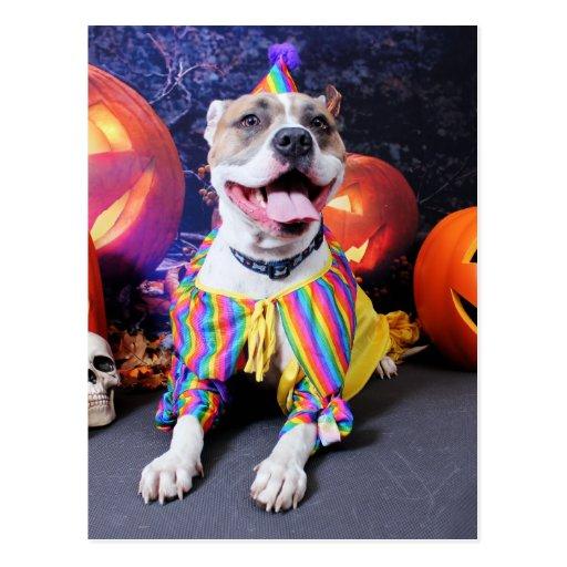 Halloween - Pitbull - Tyson Postcards