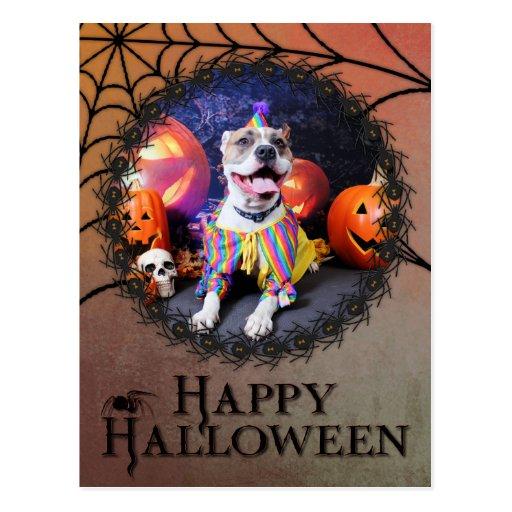 Halloween - Pitbull - Tyson Postcard