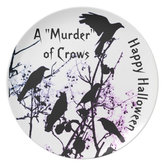 Halloween Plate: A Murder of Crows Plate