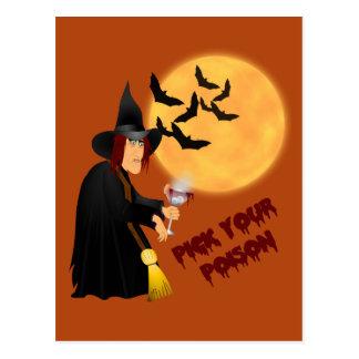 Halloween Poison Recipe Card Postcard
