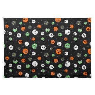 Halloween Polka Dot Faces Placemat