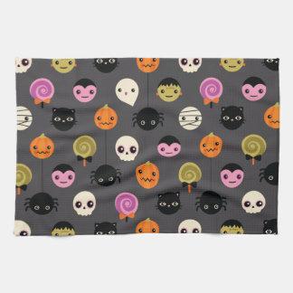 Halloween Polka Dots Pattern Kitchen Towel