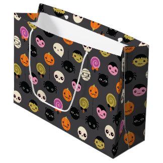 Halloween Polka Dots Pattern Large Gift Bag
