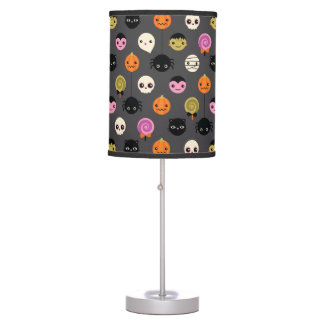 Halloween Polka Dots Pattern Table Lamp