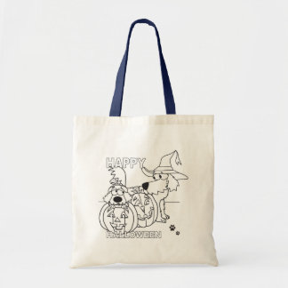 Halloween Pooches Budget Tote Bag