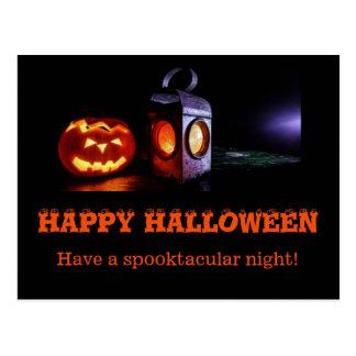 Halloween postcard, have a spooktacular night. postcard
