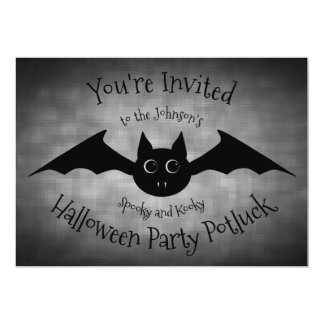 Halloween potluck party family card