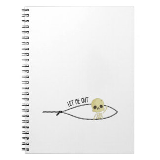Halloween Pregnancy Pregnant Gift  Little Skull Spiral Notebook