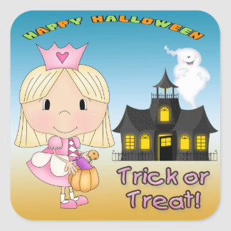 Halloween Princess Square Stickers