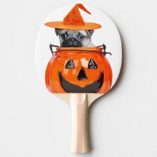 Halloween pug dog ping pong paddle