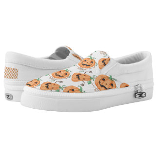 Halloween Pumkins Slip-On Sneakers
