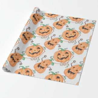 Halloween Pumkins Wrapping Paper
