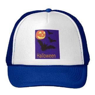 Halloween Pumpkin and Bats Hats