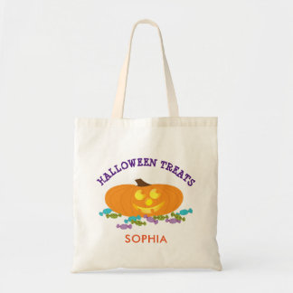 Halloween Pumpkin and Candy Treats Tote Bag