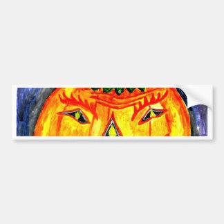 Halloween Pumpkin Art 2 Bumper Sticker