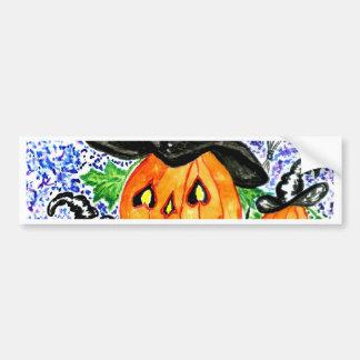 Halloween Pumpkin Art Bumper Sticker