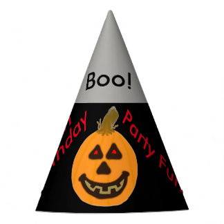 Halloween Pumpkin Balloons Boo Birthday Hats