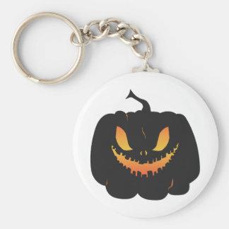 Halloween Pumpkin Basic Round Button Keychain