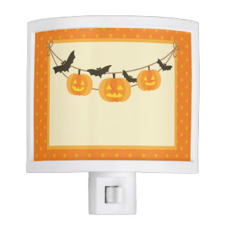 Halloween Pumpkin Bat Jack O Lantern Night Light