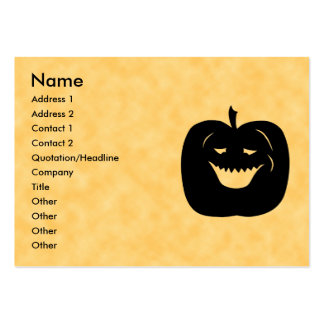 Halloween Pumpkin, Black and Orange. Pack Of Chubby Business Cards