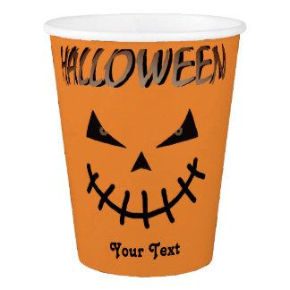 Halloween Pumpkin black Paper Cup