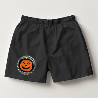 Halloween Pumpkin Bottle Cap Boxers