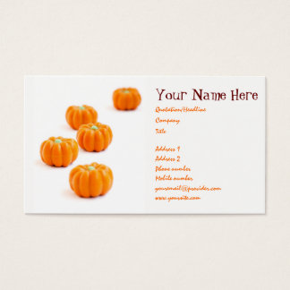 Halloween pumpkin candy business card