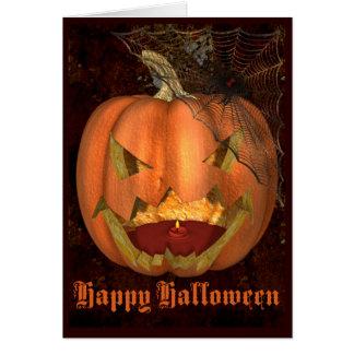 Halloween Pumpkin Greeting Card