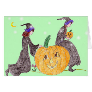 Halloween, Pumpkin Caretakers Card