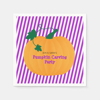 Halloween Pumpkin Carving Party Paper Napkins